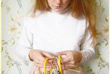 Knitting needle bangles