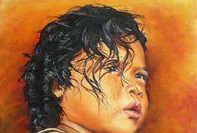 Portraits peinture à l'huile / Portraits en peinture à l'huile d'après photo. Réalisé sur toile.