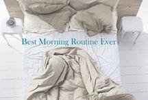 Health: morning routine, yoga etc