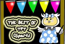WORLD OF TPT CLIPARTS / In this board,  you can find the best of TPT cliparts creations! you can pin the ones you, graphics, frames and borders. Hugs from Hernan!