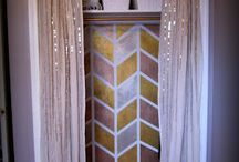 Curtains, lamps, rugs, ect