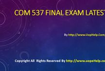 COM 537 Final Exam