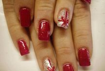 christmas+valentine nails
