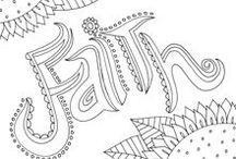 Coloring pages / by Ruthie Moller