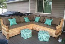 muebles de exterior de palets