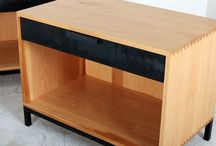 Side Tables / Side Tables, Nightstands, Consoles, and End Tables made from live edge, quartz, phenolic resin, walnut, pecan, oak, steel