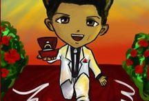 Caricaturas Bruno Mars