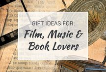 Gifts for Film, Music and Book Lovers / Film, Music and Book nerds unite! This awesome board is a great place to get ideas for gifts you'll love to give and receive!