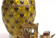 "FABERGE / The House of Fabergé is a jewellery firm founded in 1842 in St. Petersburg, Imperial Russia, by Gustav Faberge, using the accented name ""Fabergé""; Gustav was followed by his son Peter Carl Fabergé, until the firm was nationalised by the Bolsheviks in 1918. The firm has been famous for designing elaborate jewel-encrusted Fabergé eggs for the Russian Tsars and a range of other work of high quality and intricate details."