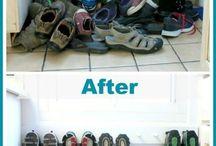 Schuhe verstauen
