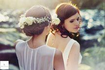 Coiffure & Make up / Cascades de chevelures brunes ou dorées, vous découvrirez ici de quoi vous épanouir ou vous dompter ! Regards de biches et bouches mordues trouverons également l'inspiration pour une mariée sublime et naturelle !