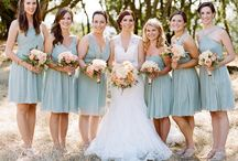 Light Blue Bridesmaid Dresses / A collection of all sorts of light blue bridesmaid dresses and gowns for your light blue wedding. Have your something blue be your wedding party! / by Dress for the Wedding