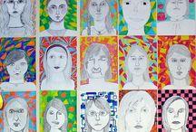 Kuvis: muotokuva/ art lesson portraits