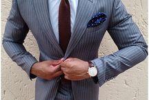 Gravatas e ternos