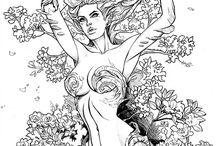 Girl Comic Sketches