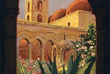 Antique Italian Travel Posters / I went on a garden tour to Tuscany and fell in love, of course. The influence of Italian gardens contribute to the American gardening world