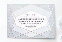 GEOMETRICS {wedding stationery} / Geometric wedding stationery inspiration