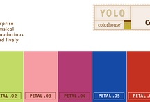 YOLO Petal Collection / YOLO Colorhouse PETAL color family notes: • accents • coloristic surprise • fun and whimsical • daring and audacious • energetic and lively / by Spiced and Sugared
