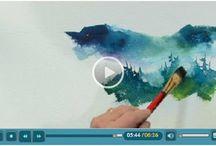 Water color techniques