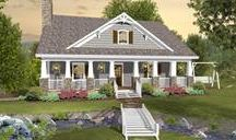 Cottage House Plans / Cottage homes are known for their coziness and practicality. Many feature inviting front porches constructed of natural materials. Browse our full collection of Cottage House Plans at http://www.dfdhouseplans.com/plans/cottage_house_plans/ / by DFD House Plans