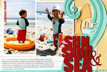 Scrapbook Pages: Beach, pool, bath