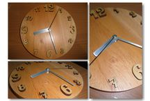 wooden wall clock by SapiOmpong