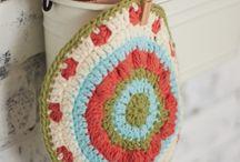 Crochet/knit dishcloth, pot holders and mandalas.