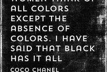 zwarte teksten / black = magic! teksten over de mooiste kleur: zwart!
