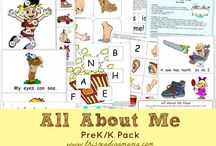 Preschool All about Me and Back to School / Games and ideas for teaching preschoolers with Back to School and All about themes in speech therapy