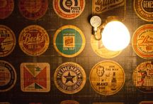 Beerd / The South West's first dedicated Craft beer bar, serving draft ale and pizza as well. Features include a water-tower styled keg dispense on the back bar and bespoke wallpaper of 60's American beer coasters with a few rogue 'Beerd' logo imitations.