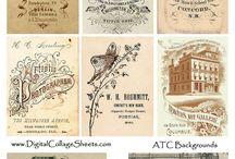 vintage papier / vintage papier / vintage paper