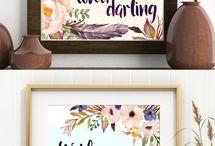 Lettering & Watercolor