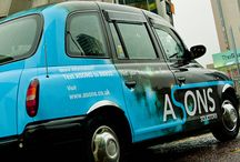 Asons Solicitors Taxi / For 2014 we've branded 10 Hackney Taxi cabs in Manchester.