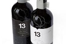 label on bottles of wine / label on bottles of wine