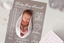 Baby welcome Dankes-Karte