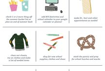 BACK TO SCHOOL / kid's fashion, gear, printables and projects for back to school.