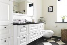 Nostalgi badeværelser / Inspiration til badeværelse i den nostalgiske og romantiske stil.
