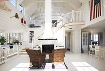 New England / Staircases with inspiration from the Hamptons or the Swedish archipelago