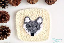 Crochet woodland