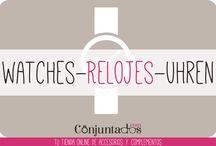 RELOJES - WATCHES - UHREN / En conjuntados.com queremos que des la hora con mucho #estilo :) Pincha en http://www.conjuntados.com/es/relojes.html y verás nuestra selección de relojes, a cada cual más chulo.
