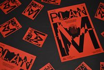 """Plan M / """"Plan M"""" est un projet collaboratif réalisé avec neuf graphistes européens, orchestré par le designer graphique Adrien Menard se basant sur le texte de Kenneth Goldsmith intitulé « Uncreative Writting »."""
