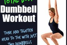 Total body workout / toning with two dumb bells