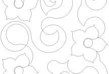 Стежки одеял Цветочные орнаменты (Quilt: flowers)