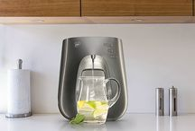 Our WaterBars / Our revolutionary WaterBars serving triple filtered pure water instantly boiling or perfectly chilled.
