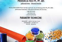 Produkcja folii PS, PP, ABS jednowarstwowej - dwuwarstwowej