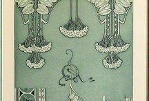Art nouveau illustratie