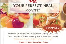 Pin Your Perfect Broadmoor Meal / Pinterest contest running through October 27, 2013. Win one of three available $100 gift cards or seats at our Taste & Savor New York event. Enter at broadmoor.com/contest. See some of author's favorites here! / by The Broadmoor