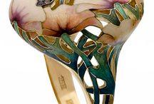 anillos art nouveau