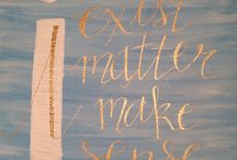 Custom Canvas / Quotes, verses, names, words....hand lettered by me!