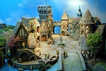 Miniature Worlds / Tiny towns and little people.